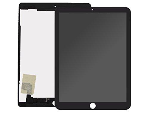 Handyteile24 ✅ LCD Display Touchscreen Bildschirm Digitizer Anzeige Wi-Fi + Cellular Komplett Einheit in Schwarz für iPad Air 2 A1566 + A1567