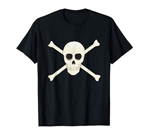 Scary Pirates Halloween Skull & Crossbones Jolly - Roger Camiseta