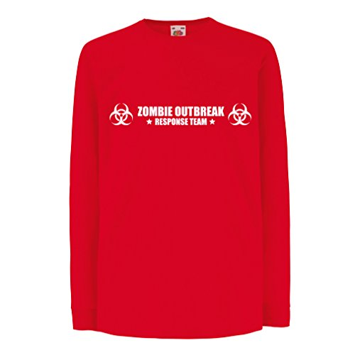 N4519D La Camiseta de los niños con Mangas largas Zombie Outbreak Response Team