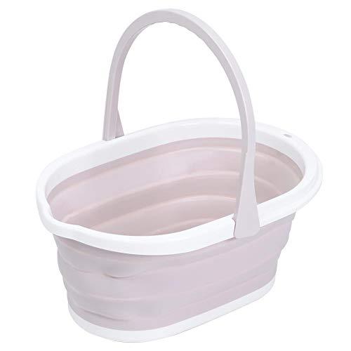 HERCHR Barril de Limpieza portátil Plegable del Cubo de Agua del Cubo de la fregona para el baño casero