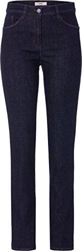 BRAX Mary Crystal Romance Damenjeans: Slim Fit Jeans im 5-Pocket-Style, Blau (Clean Raw Blue 22), Gr. W32/L34 (Herstellergröße: 42L)