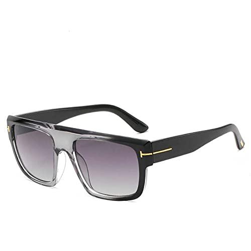 AMFG Gafas de sol retro Gafas de sol europeas y americanas Gafas de sol Plaza de Gafas de Solillas y Mujeres (Color : E)