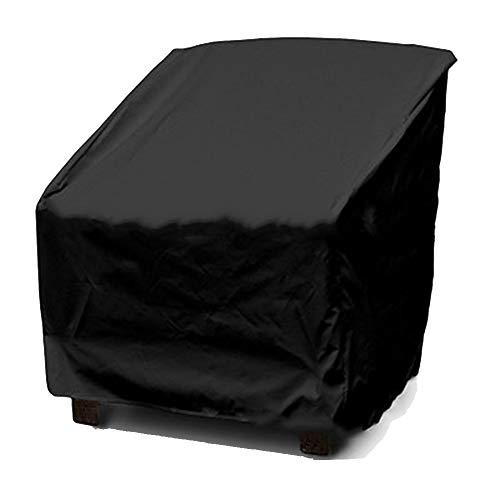 OA-cover Housse de Protection Meubles Couverture, Pare-poussière pour Meubles extérieurs Gris Noir, Habillage Pluie Jardin,Black,64 * 71 * 86cm