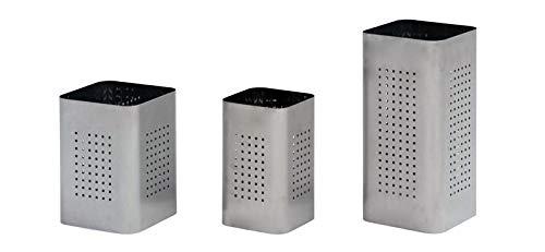 Graepel g-line pro q corbeilles à papier design bin bin acier inoxydable brossé 1.4016 graepel taille : l 25 x h 33) - 20 l