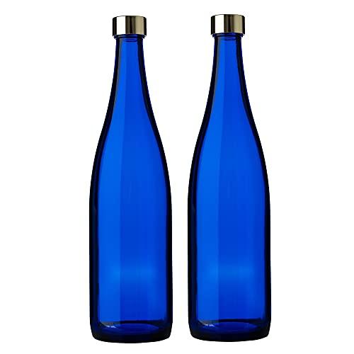 ガラス瓶 ウォーター ボトル 720ml ブルー 2本セット 日本製 ブルーボトル GLASS BOTTLE SA720PGCB2