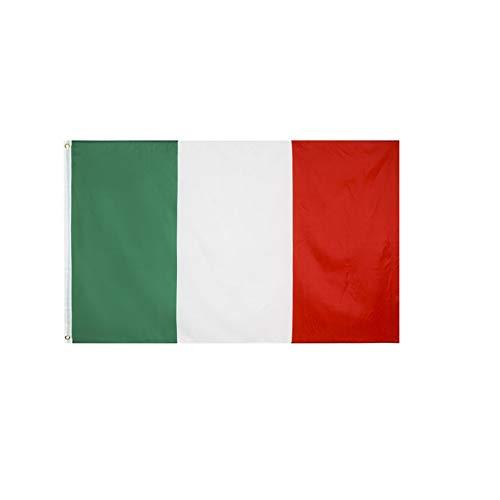stormflag Italien Flagges (90cmx150cm) Polyester Pongee 90g mit Ösen mit Doppelnadel genäht.