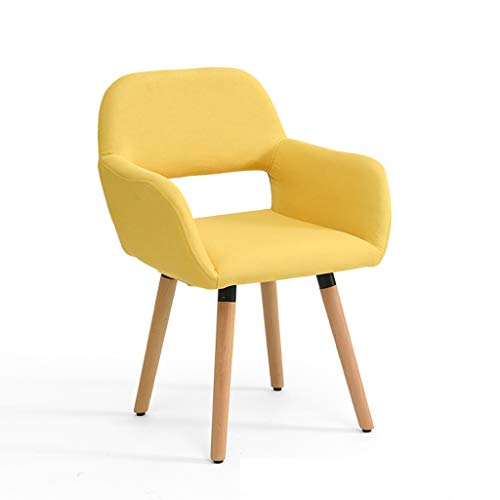 LJZslhei Stuhl Massivholz Stuhl Einfache Moderne Computer Stuhl Kreative Zurück Schreibtisch Stuhl Freizeit Stuhl Esszimmerstuhl Gelb