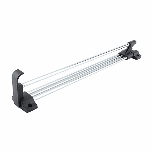 Adjustable Closet Rod, Pull Out Closet Garment Valet Rod Heavy Duty Tension Retractable Wardrobe Closet Hanger Towel Rail/Extending Rail/Storage Organiser Polished Chorme, 11.8-Inch to 21.7-Inch