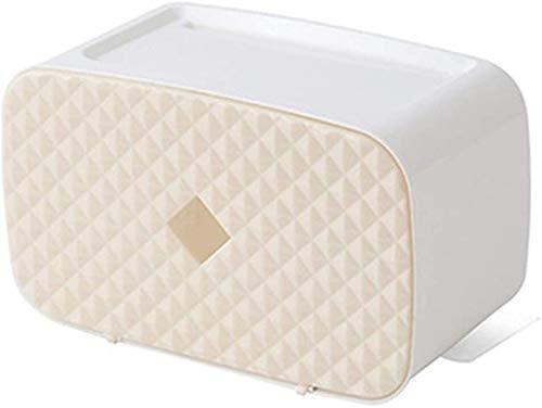 Tenedor de papel higiénico Tenedor de papel higiénico Caja de papel a prueba de agua Tenedor de papel higiénico Plástico Montaje de pared Baño Organizador Caja de almacenamiento Dispensador de servill