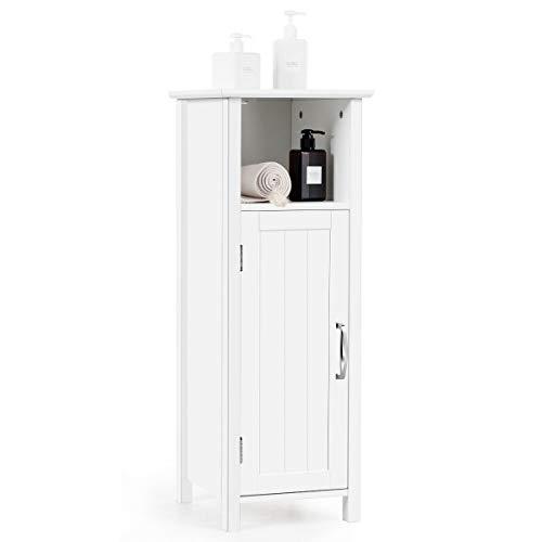 Tangkula Bathroom Storage Cabinet, Multifunctional Storage Cabinet with Single Door & Height -