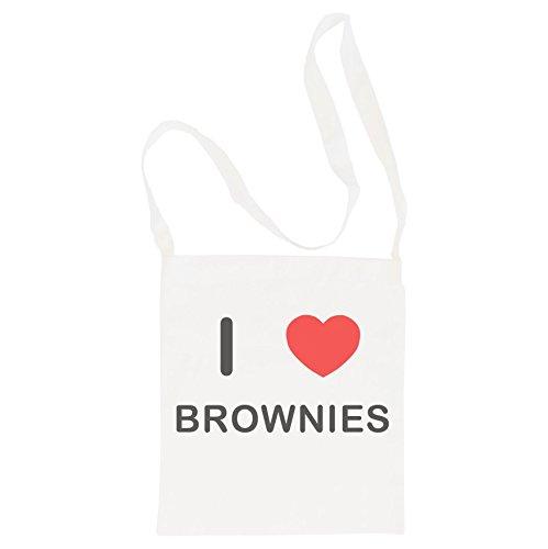 I Love Brownies - Bolsa de Eslinga de Mango Largo de Algodón