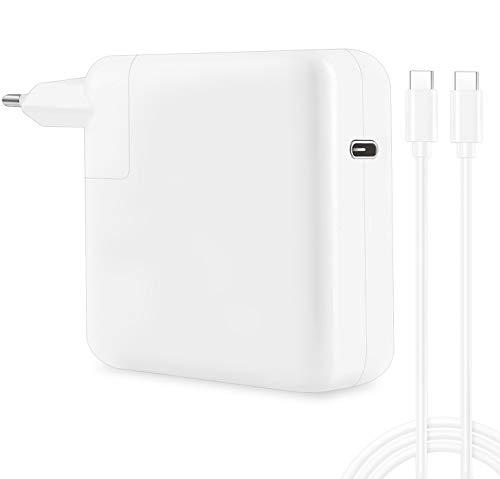 """96W USB C Chargeur d'alimentation pour MacBook Pro 16"""" 15"""" 13"""", MacBook Air 2018, iPad Pro, Il Peut remplacer Votre Chargeur USB C 87W 61W 29W, Chargeur avec 2M USB C Câble, Blanc"""