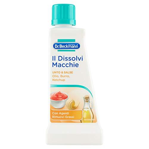 Dr. Beckmann, Smacchiatore, Dissolvi Macchie, Specifico per Unto e Salse, Delicato su Colori e Tessuti Lavabili e Non Lavabili, 50 ml