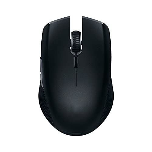 Atsti Wireless Computer Mouse, Slim Cordless Mouse Less Noise for Laptop Ergonomic Optical with Nano Receiver USB Mouse for Laptop, Deskbtop(Color:Black)