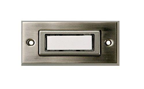 HUBER Klingeltaster 12031, 1-fach aufputz, rechteckig,Echtmetall, mit Namensschild
