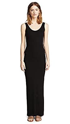 Enza Costa Women's Ribbed Tank Maxi Dress