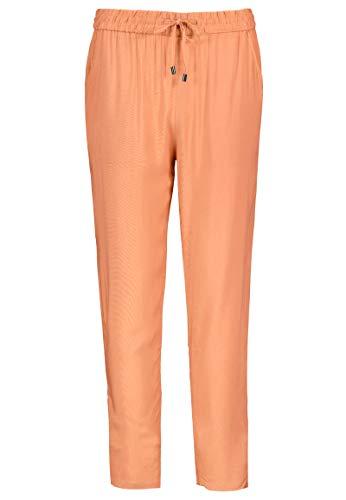 Sublevel Damen Stoff-Hose mit Bindegürtel aus Viskose orange XL