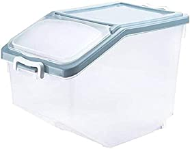 Nfudishpu Storage Box Kitchen Food Container Rice Nfudishpu Storage Box 10kg/15kg Plastic Seal Moisture Proof Cereal Conta...