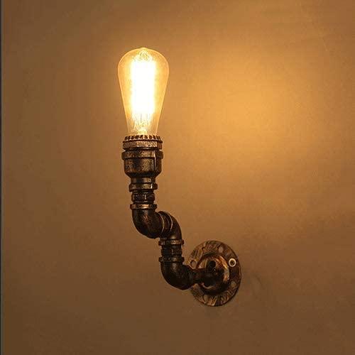 UWY Applique da Parete Industriale per Pipa ad Acqua Lampada Vintage in Metallo retrò Applique da Parete Rustica Apparecchio Applique da Parete Antica Nostalgia Apparecchio di Illuminazione da p
