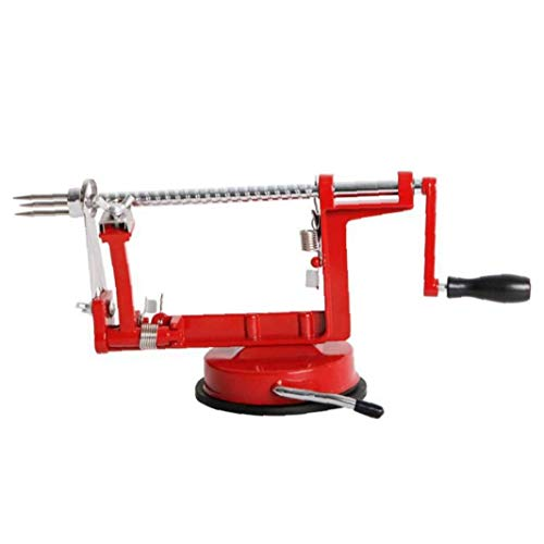 3 in 1 Apple Peeler Slicer Machine Cutter Corer Fruit Vegetable Potato Remover Red Kitchen