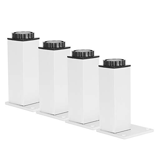 Pies de soporte para muebles, 4 piezas Patas de metal cuadradas Patas de bricolaje de aleación de aluminio resistente Altura ajustable de 15 mm Gran capacidad de carga para sofá cama(120mm)