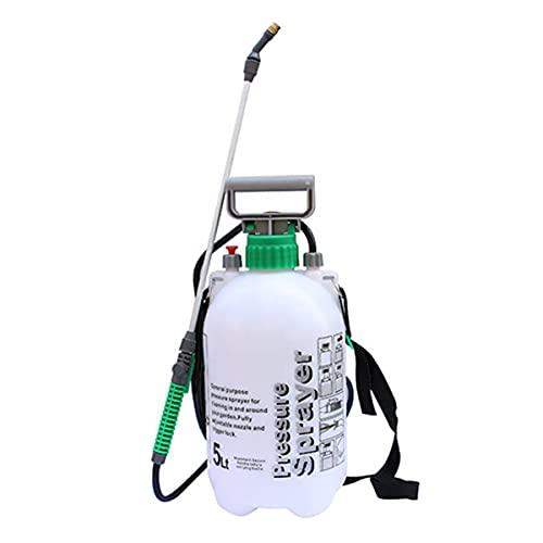Almineez 5L Hand Pressure Sprayer Bottle Handheld Pump Garden Multi Purpose Plant Watering Car Cleaning Pressurized Sprayer Gardening Tools Weed Control Chemicals Pesticides (5L Litre)