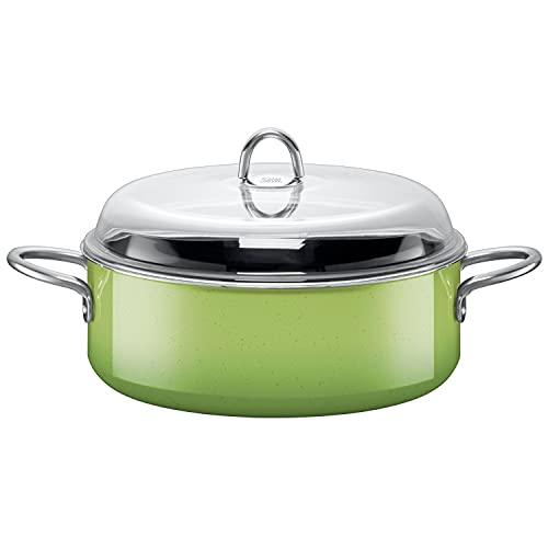 Silit–Cacerola 28cm de diámetro Aprox. 6L Passion Green Reborde Fabricado en...