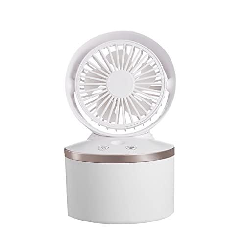 Aiglen Mini Ventilador Recargable USB inalámbrico, Ventilador de pulverización de Niebla, Suministros de refrigeración para el hogar y la Oficina, Mini Ventilador Personal de Mano Ajustable