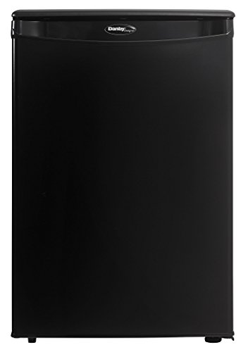 Danby DAR026A1BDD-6 2.6 Cu.Ft. Mini Fridge, Compact Refrigerator for Bedroom, Office, bar, countertop, E-Star Rated in Black