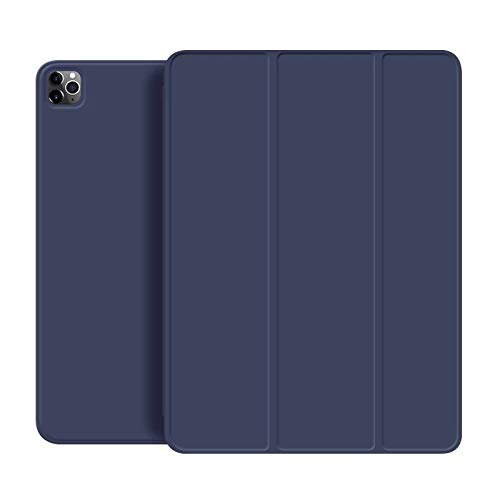 Lilycase soft PU leather iPad case for iPad Pro 11 2020, ultra smart and slim magnetic cover, trifold stand, autowake/sleep for iPad 11 pro navy blue