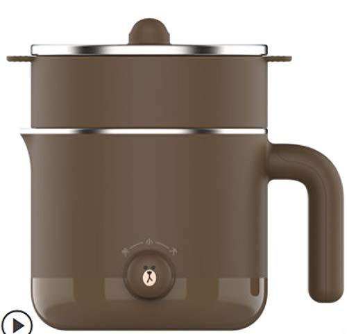 XIYUN 220V Mini Electric Multi Cooker Portable Electric Rice Cooker Hotpot Cooking Machine Electric Hot Pot Brown