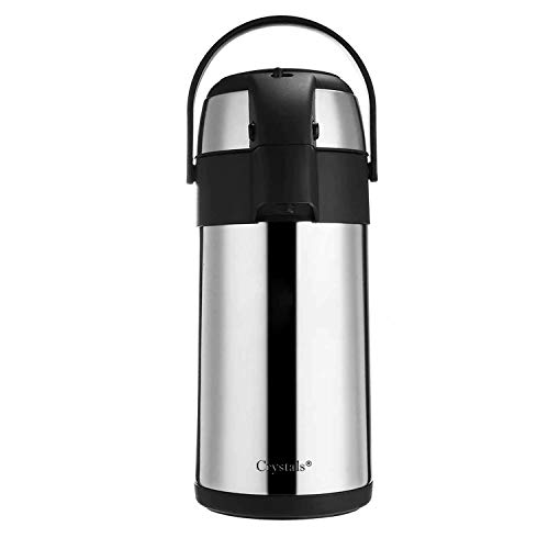 Stainless Steel AIR Pot Flask Tea Coffee Pump Action Vacuum Thermos (3 LTR Flask)