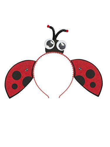 les colis noirs lcn Serre-tête Coccinelle avec Ailes et Yeux Fille Rouge-Noir - Taille - Taille Unique - 277600