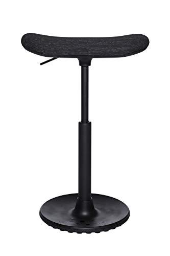 Topstar Sitness H2, Arbeitshocker, Stehhilfe, Drehhocker, Skateboardsitz, höhenverstellbar, Stoffbezug Polyester, schwarz