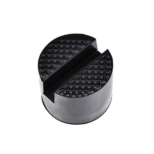 YUEKUN 2 Piezas Goma Gato Hidraulico Bloque Universal Protector Para Elevador Coche,Soportar 3 Toneladas,4.8cm De Diámetro (Negro)