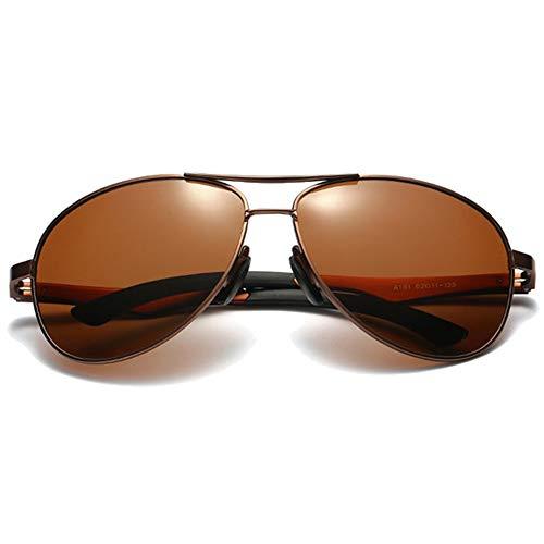 Stella Fella Gafas de sol de aluminio silvestre y magnesio para hombre, color marrón/azul/verde (color: marrón)