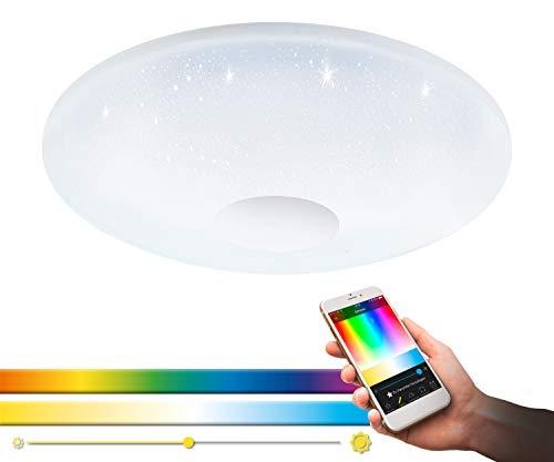 Preisvergleich Produktbild EGLO VOLTAGO-C Wand- / Deckenleuchte,  Stahl,  Kunststoff m.Kristalleffekt,  17 W,  Weiss