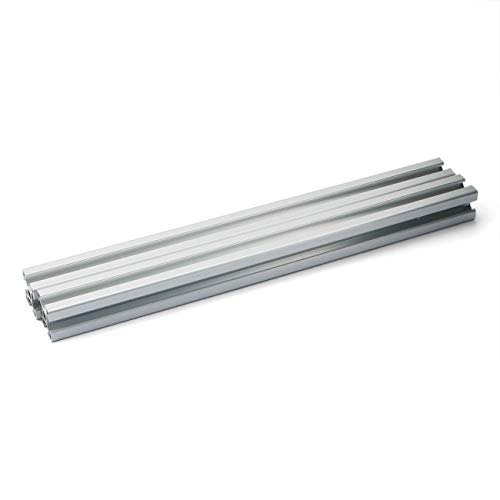PZRT 2PCS Silver 2020 Aluminum Profile European Standard Anodized Linear Rail 2020 Aluminum Profile Extrusion for DIY 3D Printer Workbench CNC (400mm)