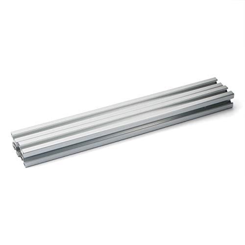 PZRT 2PCS Silver 2020 Aluminum Profile European Standard Anodized Linear Rail 2020 Aluminum Profile Extrusion for DIY 3D Printer Workbench CNC (400mm)