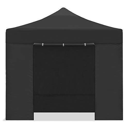 Mc Haus CARPLE-3X3 NEGRA Plegable Impermeable Exterior, Carpa de plegado Fácil para Eventos, Jardín, Fiestas al Aire Libre, 3x3m