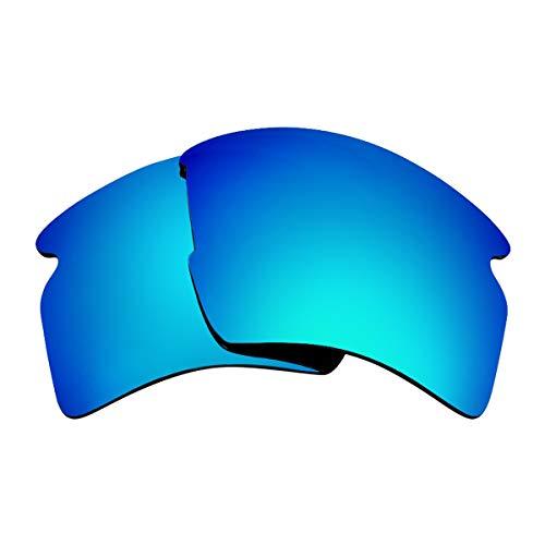 SEEK Ersatzgläser Kompatibel mit OAKLEY FLAK 2.0 XL Polarisiert Blau Spiegel