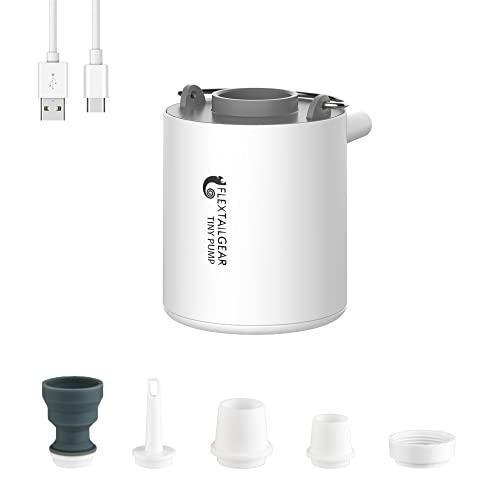 FLEXTAILGEAR TINY PUMP 携帯式エアーポンプ 1300mAh 電池 USB充電式 最軽量ポンプ 空気入れる 空気抜く プール用ブイ 浮き輪 真空袋など対応 (ブルー)