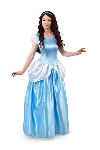 Little Adventures Enchanted Cinderella Princess Dress Up Costume for Adult Women (Large (10-12)) Blue