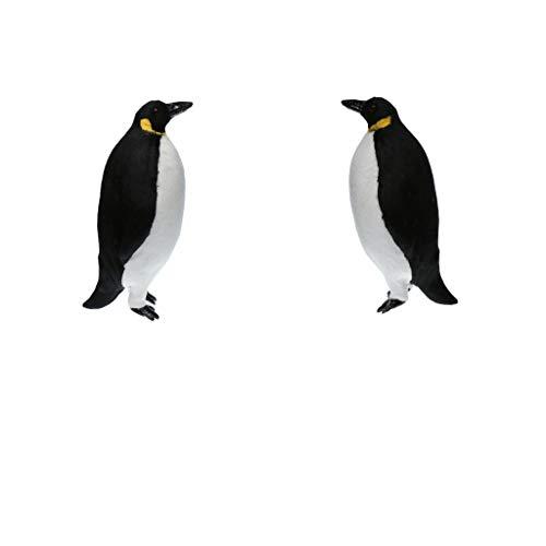 PETSOLA Accessorio per Falciatrice da Giardino Decorazione Pinguino Ornamenti 2 Pezzi - L + M