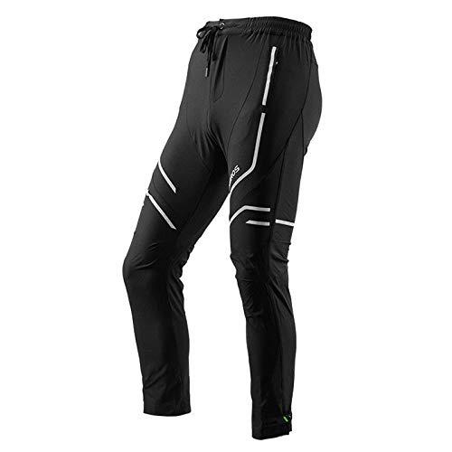 ROCKBROS - Pantalones Largos de Ciclismo para Hombre, Reflectantes, Transpirables