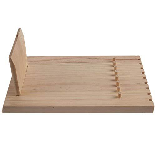 Fransande Soporte de madera sin terminar para joyas, collar y colgante con 9 ganchos para collar o pulsera