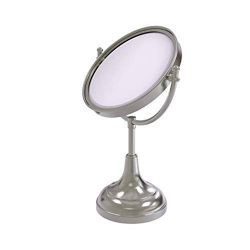 Allied Brass DM-2/2X 8 Inch Vanity Top 2X Magnification Make-Up Mirror, Satin Nickel