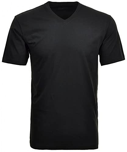 Ragman Herren Doppelpack - 2 T-Shirts mit V-Ausschnitt, Schwarz, 3XL