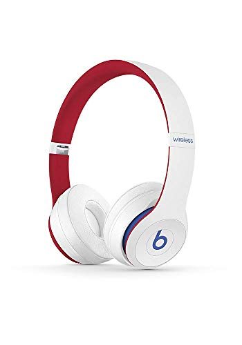 Beats Solo3 Wireless On-Ear Headphones - Apple W1 Headphone Chip, Class 1 Bluetooth, 40 Hours Of Listening Time - Club White (Latest Model)