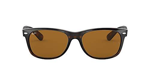 Ray-Ban Unisex New Wayfarer Sonnenbrille, Mehrfarbig (Gestell: havana,Gläser: braun 710), Large (Herstellergröße: 58)